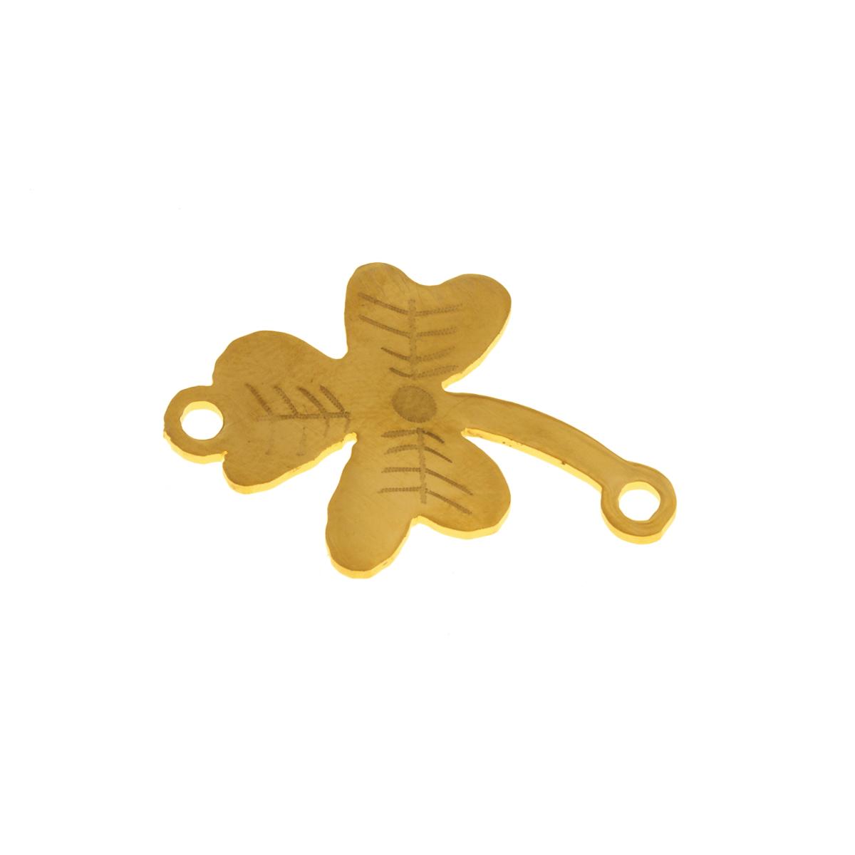 پلاک دستبند طرح گل شبدر کد 1275