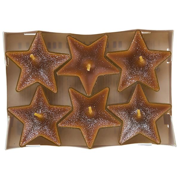 شمع وارمر عطری گیس مدل ستاره ای دارچین تند بسته 6 عددی