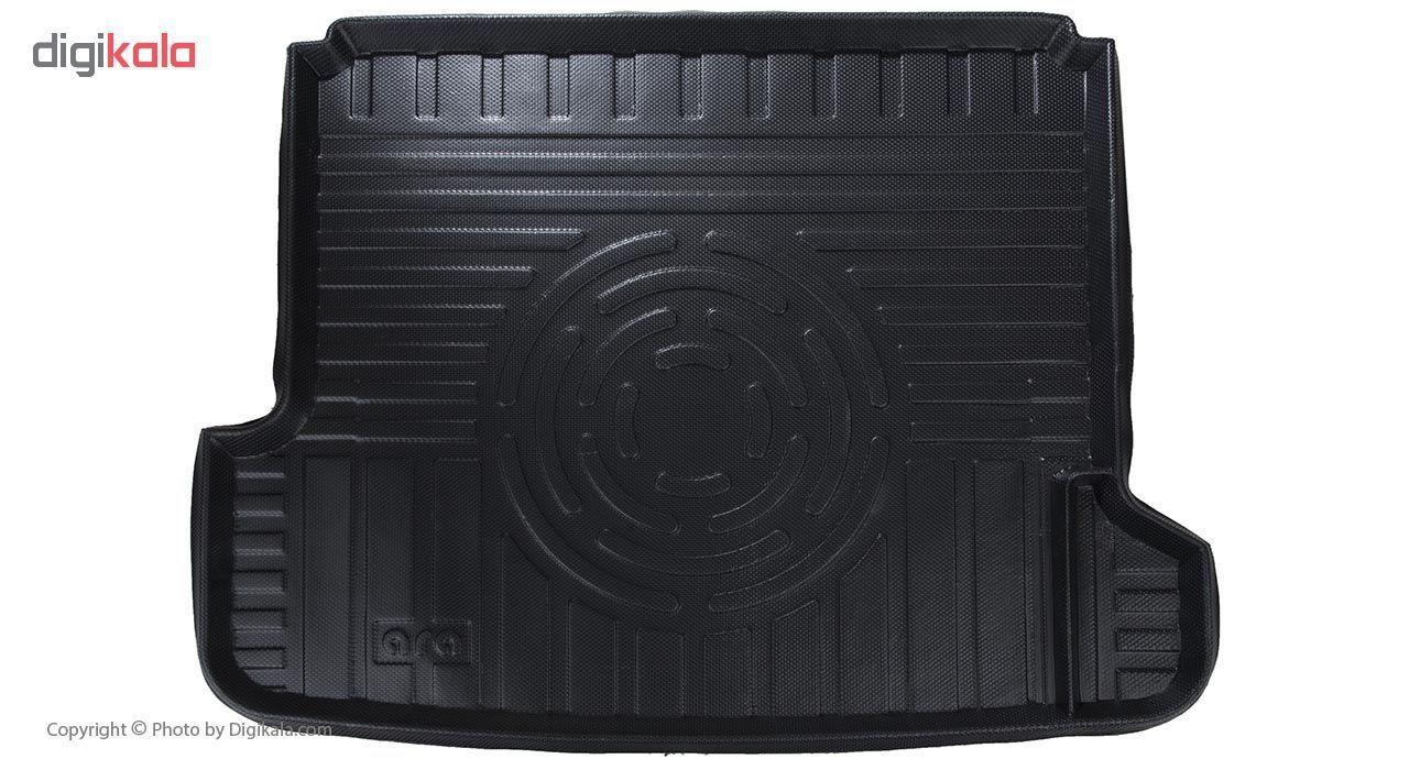 کفپوش سه بعدی صندوق خودرو آرا مدل اطلس مناسب برای پژو 405 (مشکی) main 1 1