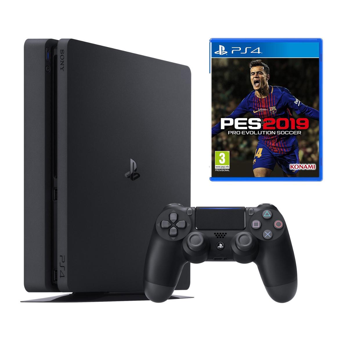 کنسول بازی سونی مدل Playstation 4 Slim کد Region 2 CUH-2216B - ظرفیت 1 ترابایت به همراه بازی