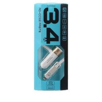 شارژر فندکی  دیاموند مدل AD-CC102 به همراه کابل دو منظوره لایتنینگ و micro USB