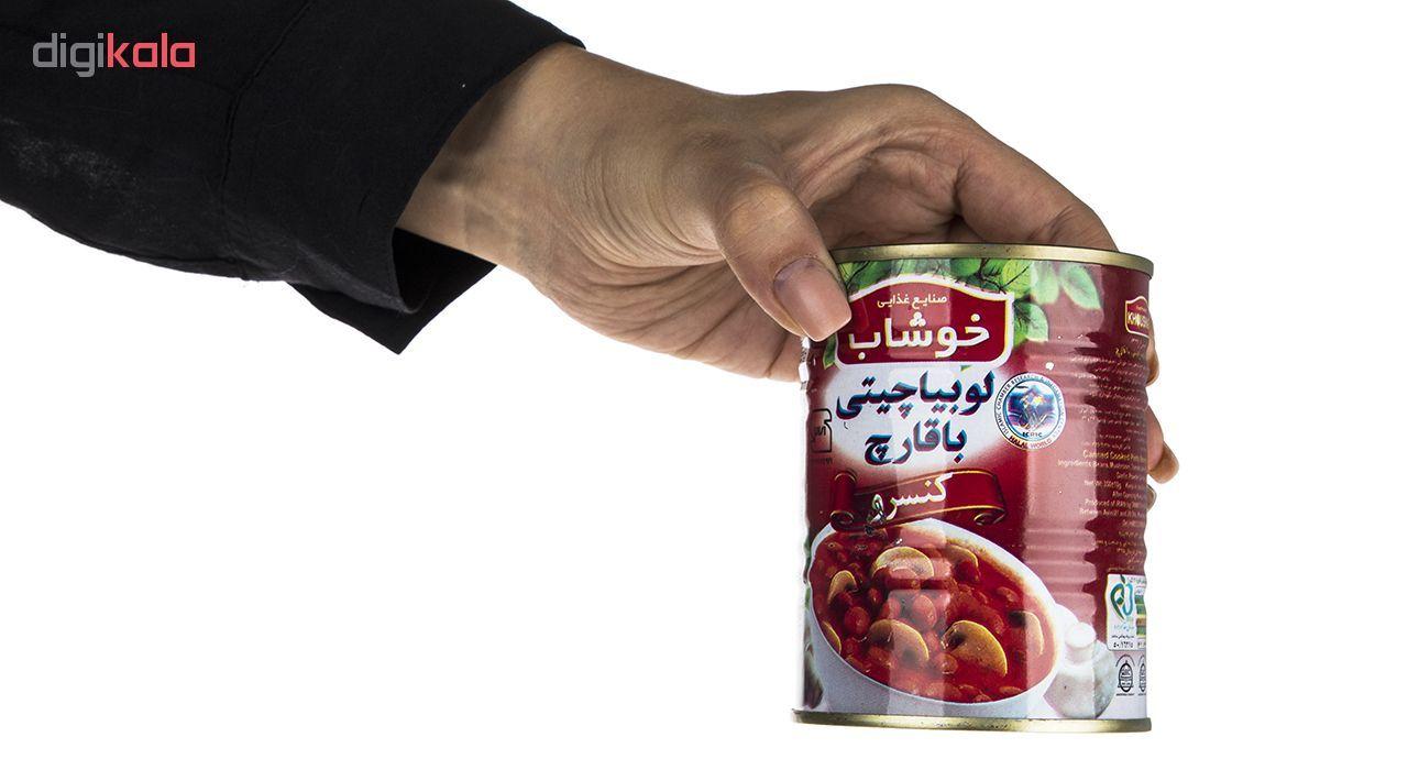 کنسرو لوبیا چیتی با قارچ خوشاب - 350 گرم main 1 3