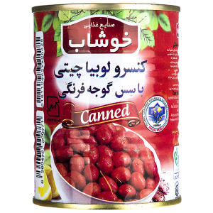 کنسرو لوبیا چیتی با سس گوجه فرنگی خوشاب - 350 گرم