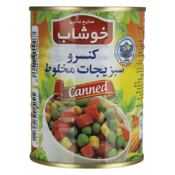 کنسرو سبزیجات مخلوط خوشاب - 350 گرم