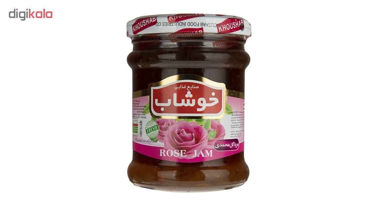 مربای گل محمدی خوشاب مقدار 290 گرم
