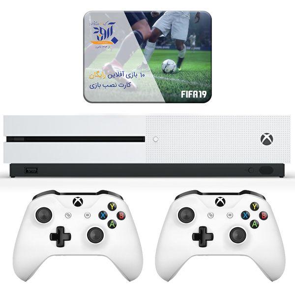 مجموعه کنسول بازی مایکروسافت مدل Xbox One S ظرفیت 500 گیگابایت به همراه 10 عدد بازی