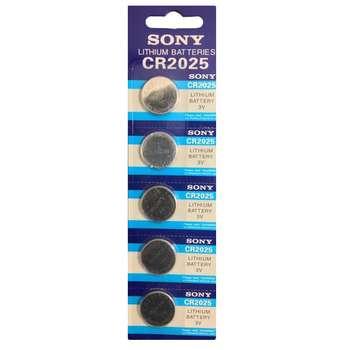 باتری سکه ای سونی مدل CR2025 بسته 5 عددی