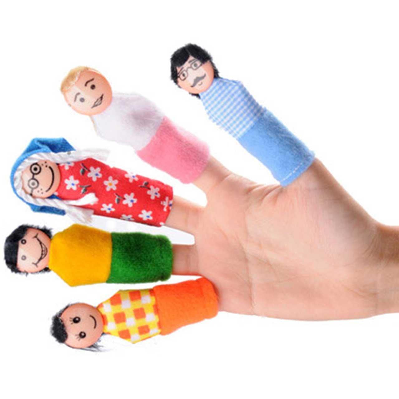 عروسک انگشتی شادی رویان مدل خانواده بسته 5 عددی