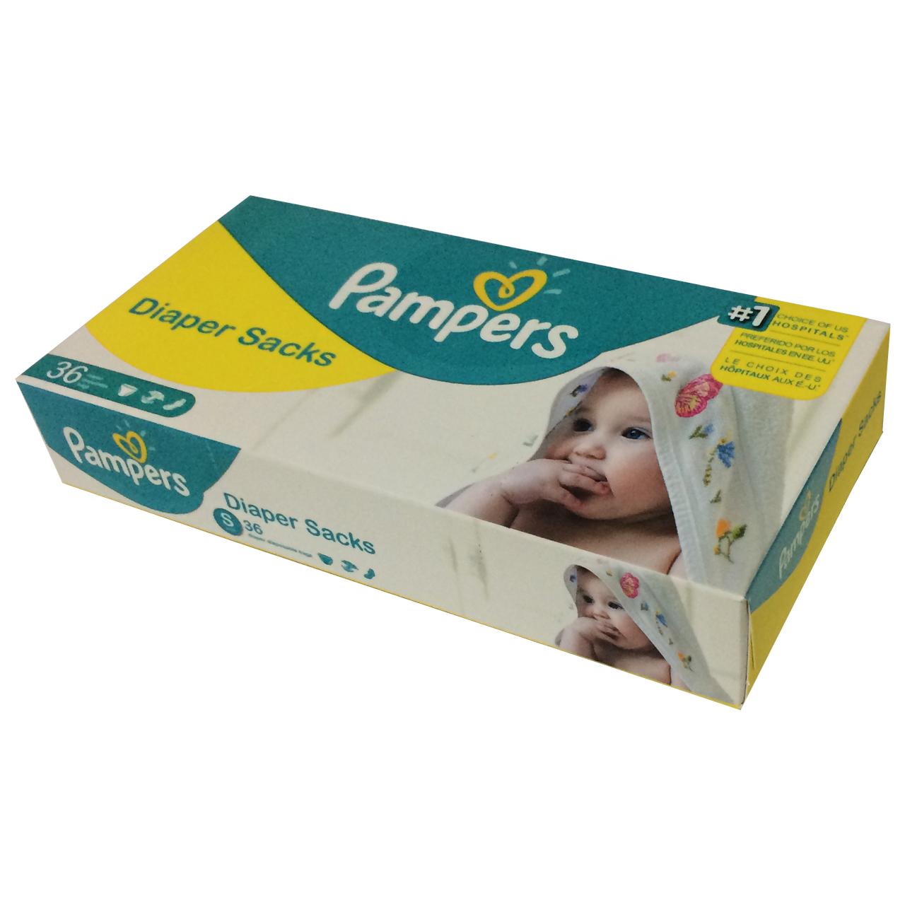 عکس کیسه زباله پوشک نوزاد پریما بسته 36 عددی