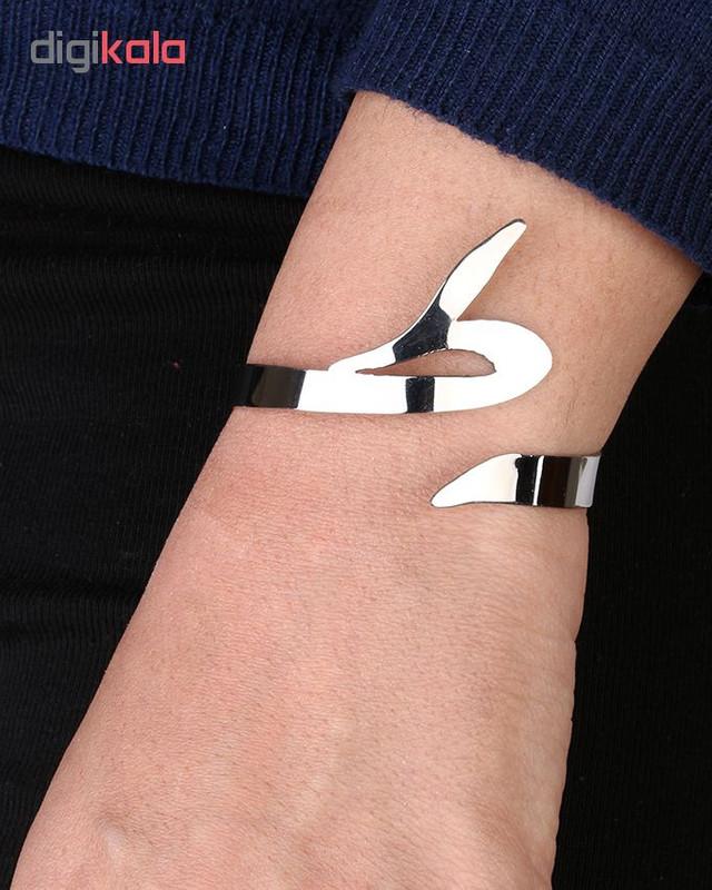 دستبند استیل گالنا طرح حرف ط