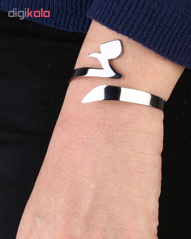 دستبند استیل گالنا طرح حرف خ
