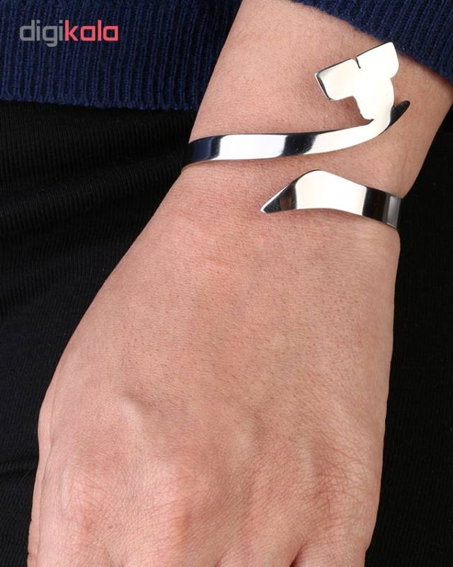دستبند استیل گالنا طرح حرف ث