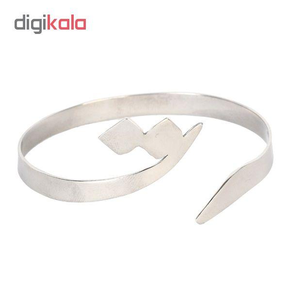 دستبند استیل گالنا طرح حرف ت