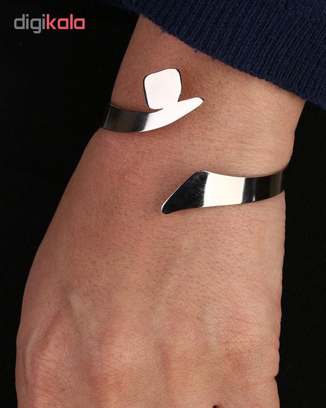 دستبند استیل گالنا طرح حرف ن