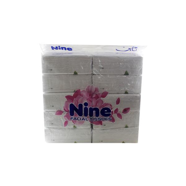 دستمال کاغذی ناین مدل white بسته ۱۰ عددی