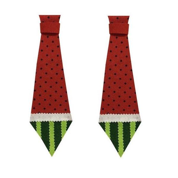 کراوات طرح هندوانه شب یلدا مدل 001 بسته 2 عددی