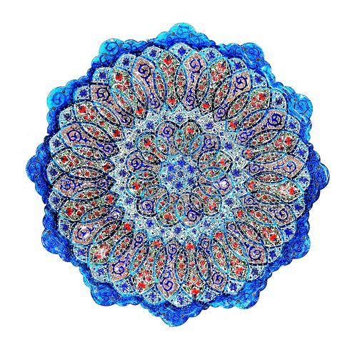 بشقاب میناکاری لوح هنر طرح گلبرگ کد 694 قطر 23 سانتی متر