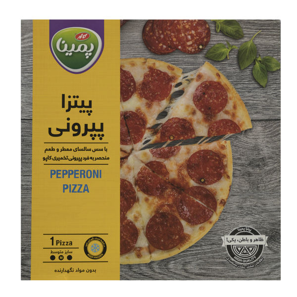 پیتزا پپرونی پمینا کاله مقدار 290 گرم
