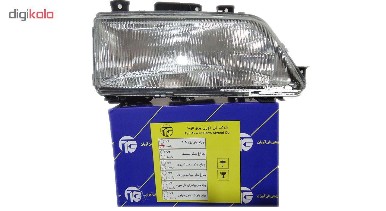 چراغ جلو راست خودرو فن آوران پرتو الوندمدل PLF307 مناسب برای پژو 405 main 1 2