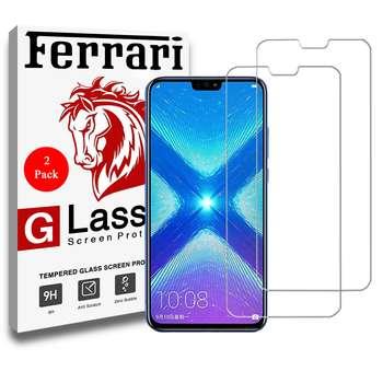 محافظ صفحه نمایش فراری مدل Ultra Clear Crystal مناسب برای گوشی موبایل هواوی Honor 8x مجموعه دو عددی | Ferrari Ultra Clear Crystal Glass Screen Protector For Huawei Honor 8x