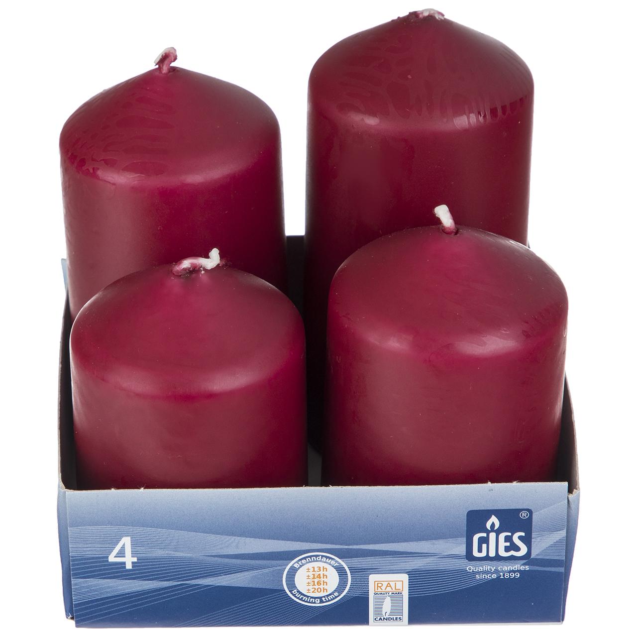 شمع گیس مدل PILAR CANDLE بسته 4 عددی