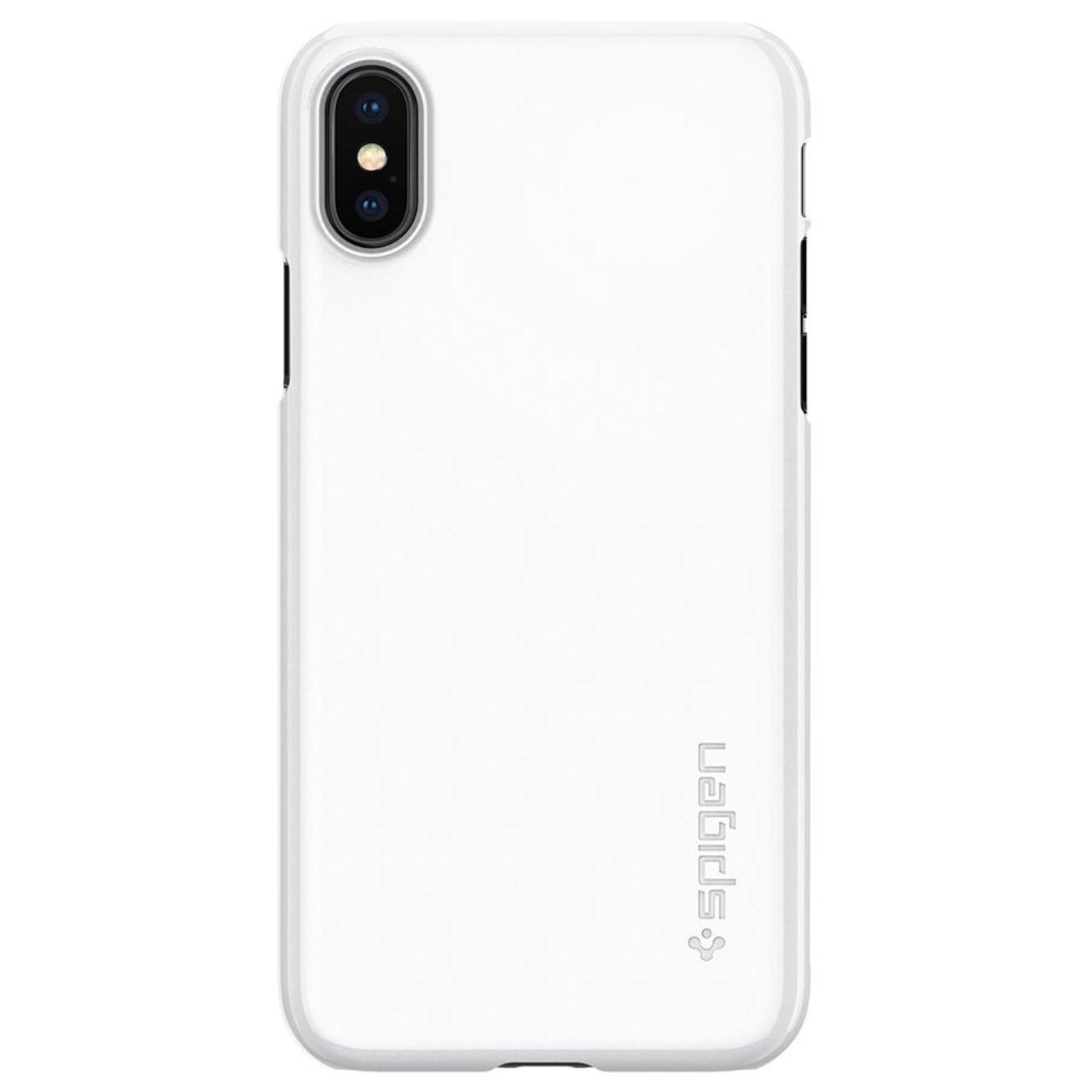 بررسی و {خرید با تخفیف} کاور اسپیگن مدل Case Thin Fit مناسب برای گوشی موبایل اپل iPhone X اصل