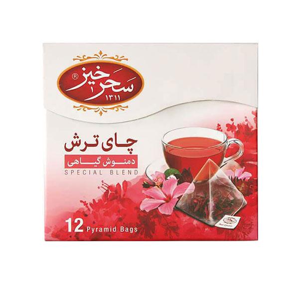 دمنوش چای ترش سحرخیز بسته 12 عددی