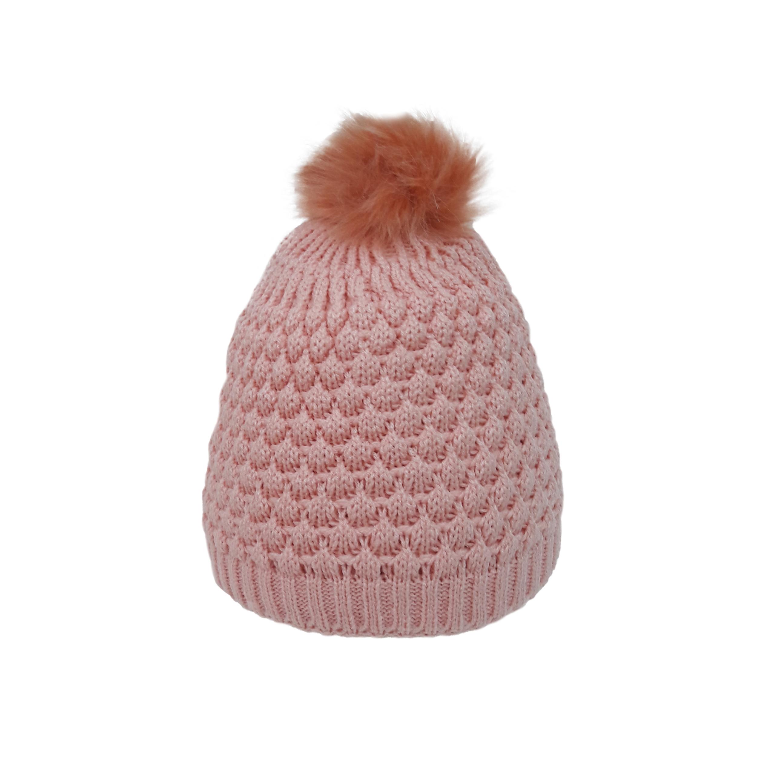 کلاه بافتنی دخترانه تولیدی منوچهری کد gf57