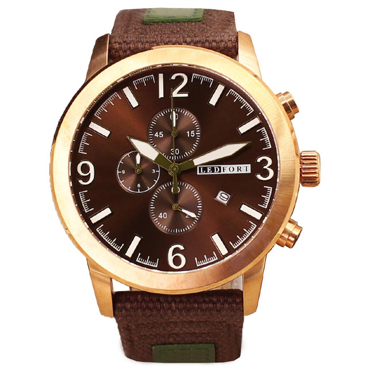 ساعت مچی عقربه ای مردانه لدفورت مدل کرنوگراف کد MK-0009