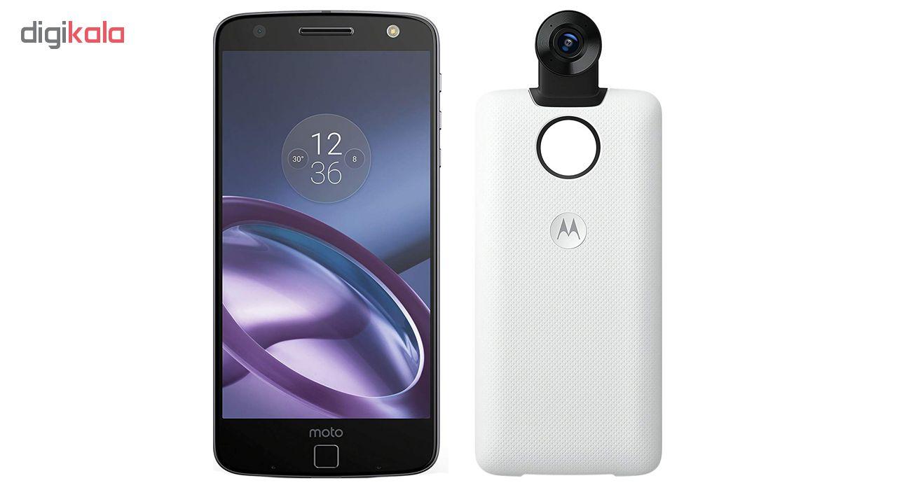 گوشی موبایل موتورولا مدل Moto Z XT1650-03  ظرفیت 32 گیگابایت همراه با Moto Mods 360 Camera ماژول Moto Mods 360 Camera