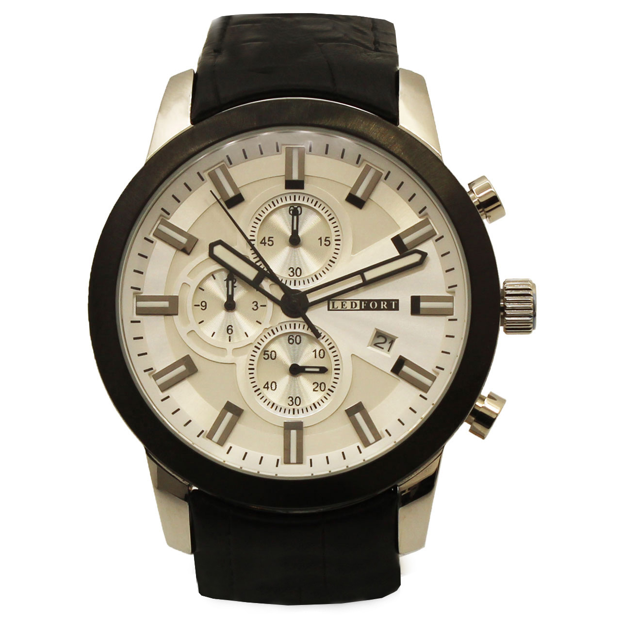 ساعت مچی عقربه ای مردانه لدفورت مدل کرنوگراف کد MK-0037