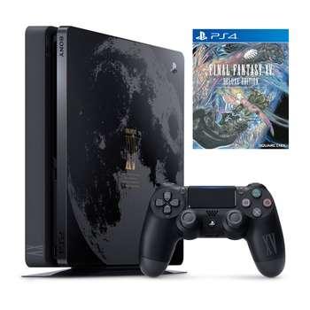 مجموعه کنسول بازی سونی مدل Playstation 4 Slim کد Region 2 CUH-2016B ظرفیت 1 ترابایت به همراه بازی Final Fantasy XV Limited Edition |