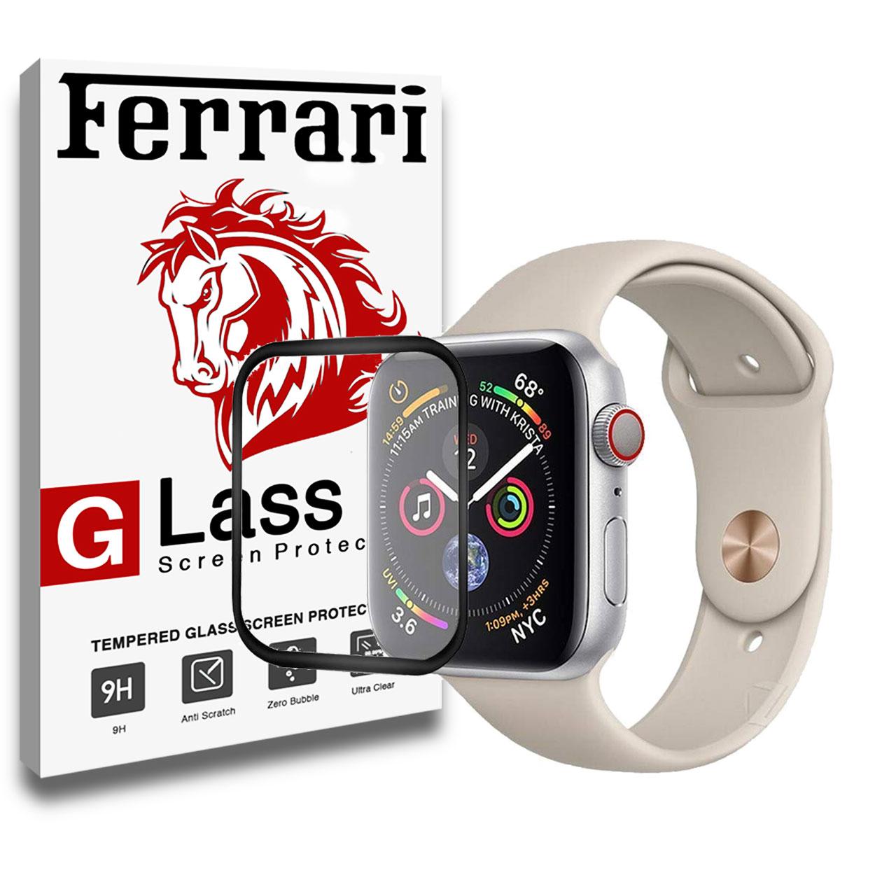 محافظ صفحه نمایش ساعت هوشمند فراری مدل 4D Dual مناسب برای اپل واچ سری 4 سایز 40 میلی متری |