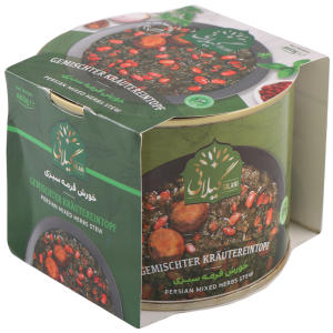 کنسرو قورمه سبزی بدون گوشت گیلانی - ۴۶۰ گرم