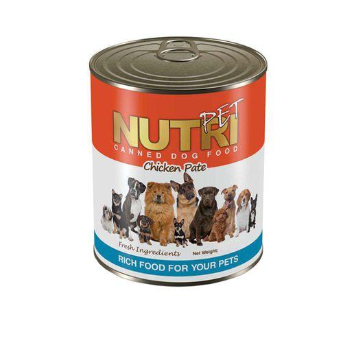 کنسرو سگ مدل گوشت و مرغ و سبزی نوتری پت مقدار 425 گرم
