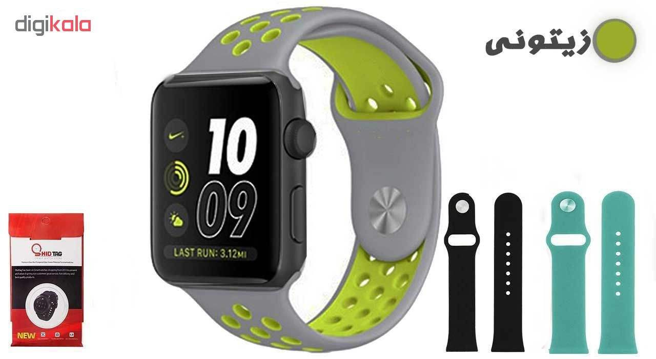 ساعت هوشمند مدل  iWO-s  همراه دو بند اضافه نایک و محافظ صفحه نمایش و بگ شیدتگ main 1 16