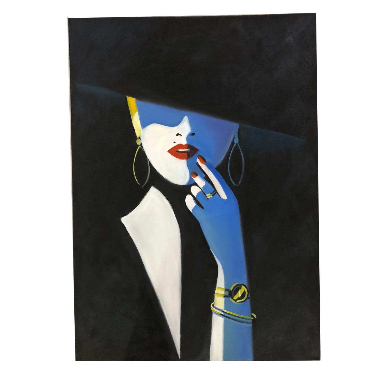 تابلو نقاشی رنگ روغن گالری بارسین طرح مدرن