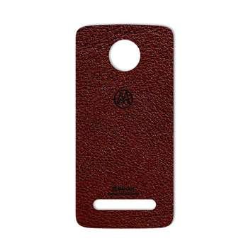 برچسب پوششی ماهوت مدلNatural Leather مناسب برای گوشی  Motorola Moto Z2 Force