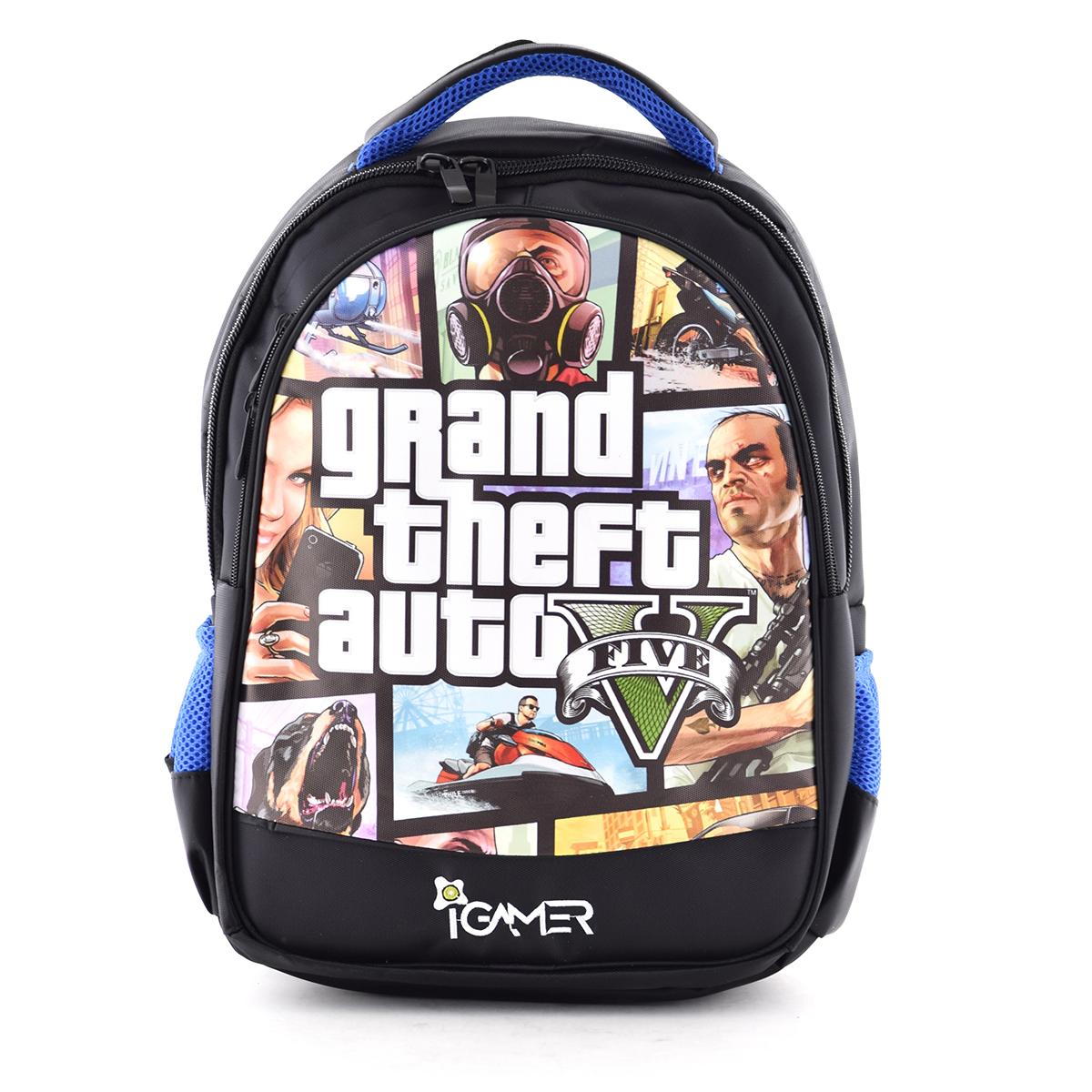 کوله پشتی آی گیمر طرح GTA مناسب برای کنسول بازی