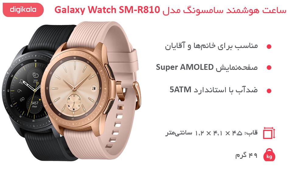 ساعت هوشمند سامسونگ مدل Galaxy Watch SM-R810 infographic