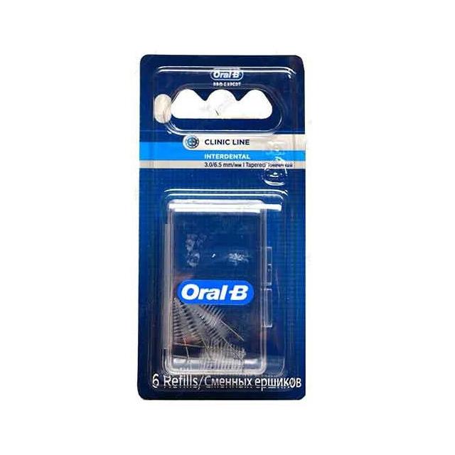 قیمت یدک مسواک بین دندانی اورال-بی بسته ۶ عددی
