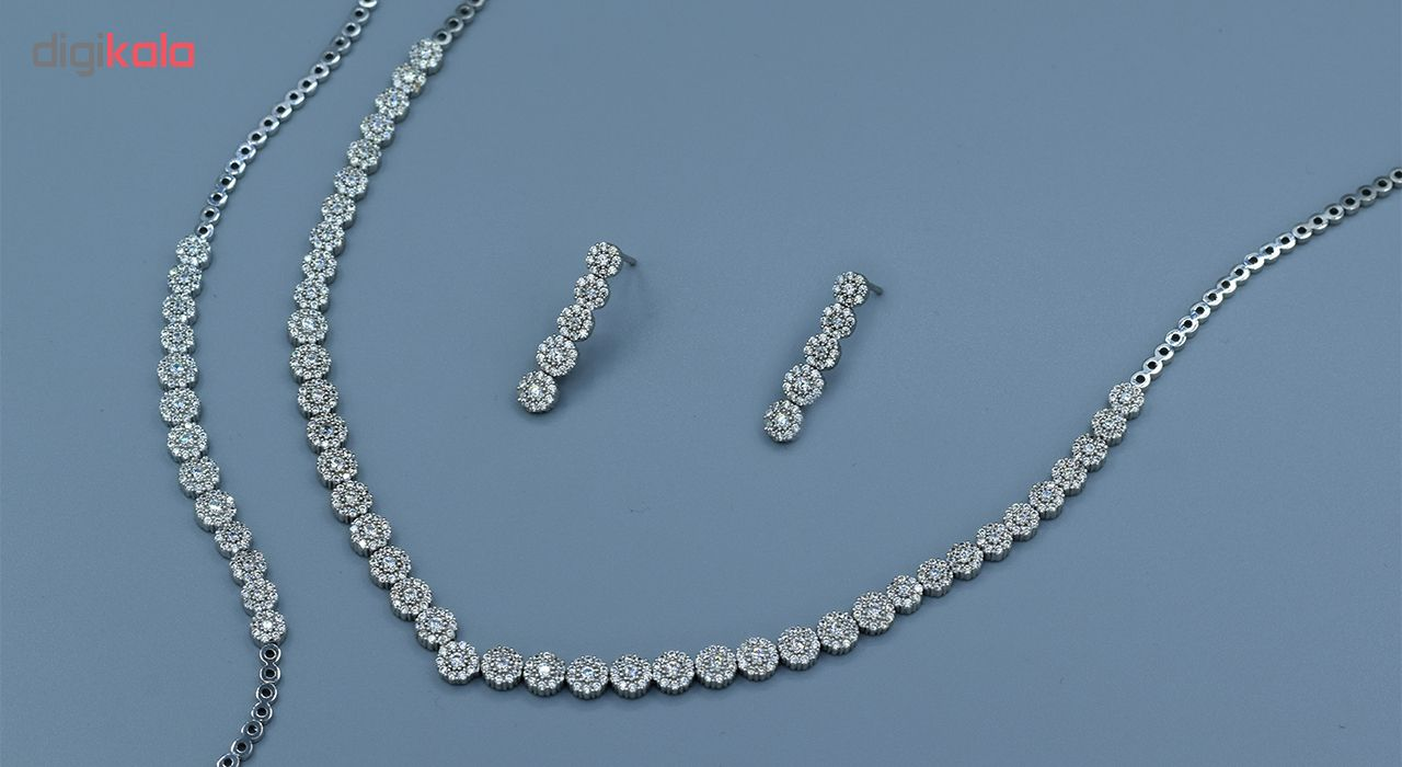 ست کامل طلا 18 عیار جواهری سون مدل 2074