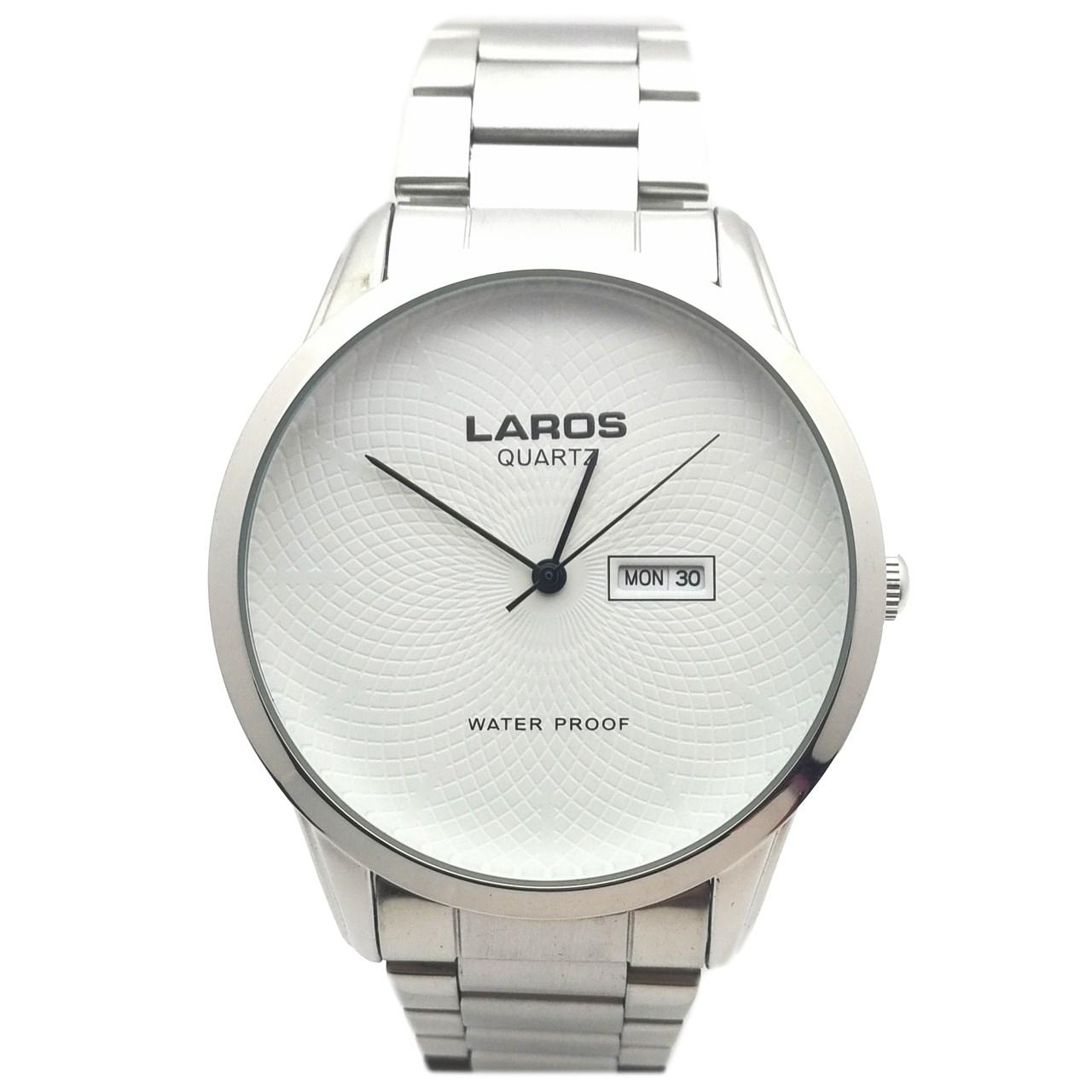 ساعت  لاروس مدل LM-N602-WhiteBlack