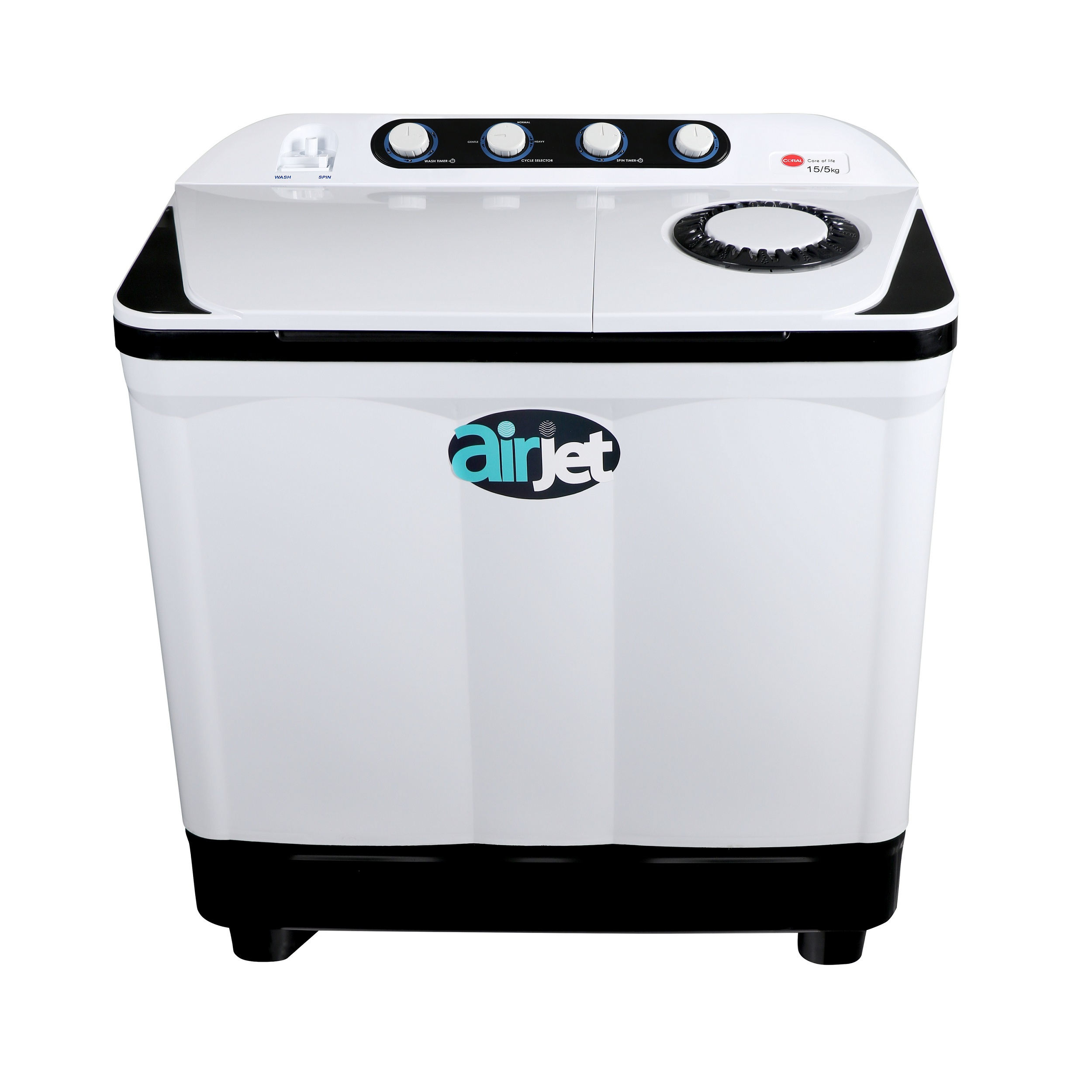 ماشین لباسشویی کرال مدل TTW 15514 FJ ظرفیت 15.5 کیلوگرم