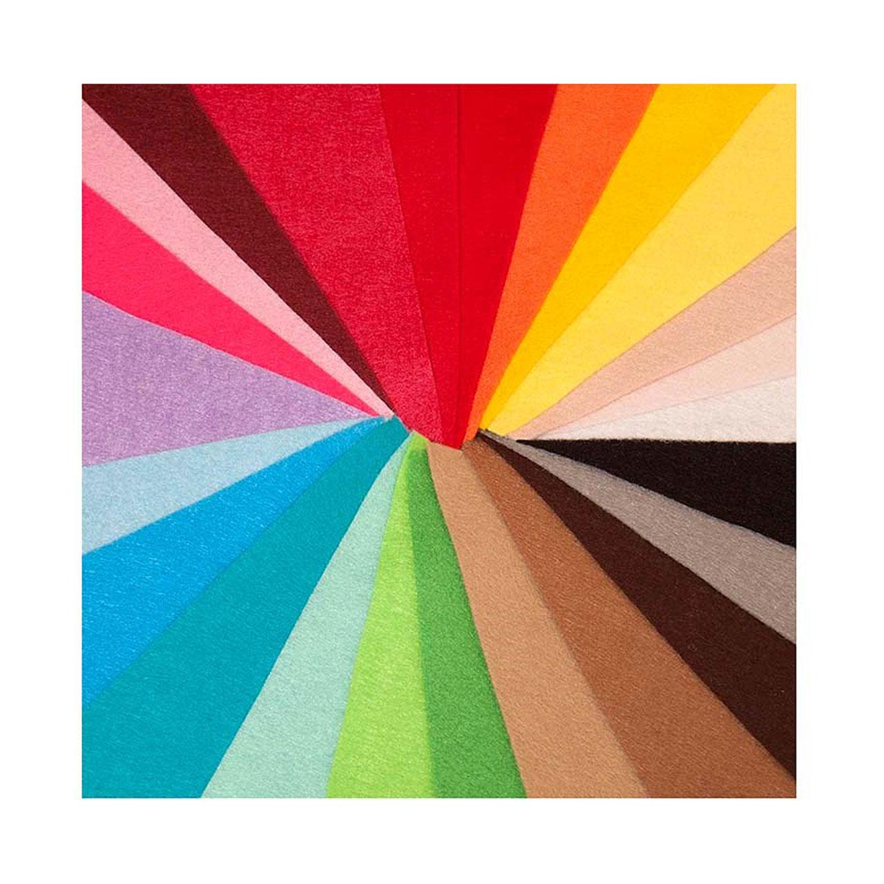 بسته ی 24 رنگ نمد درجه یک هنری ساز کد 1302