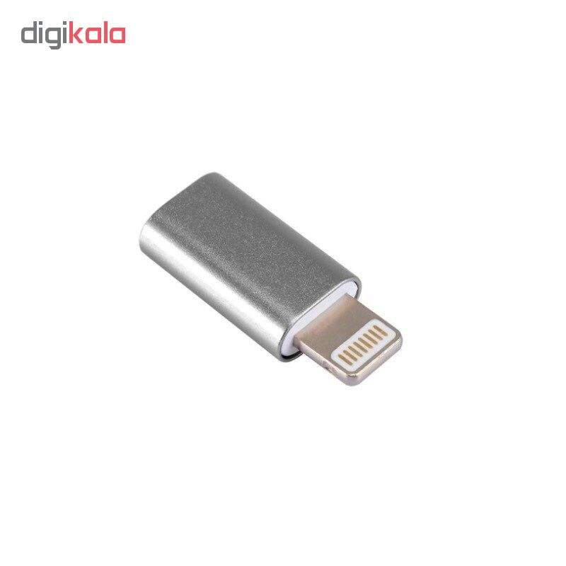مبدل micro USB به لایتنینگ مدل SH8 main 1 2