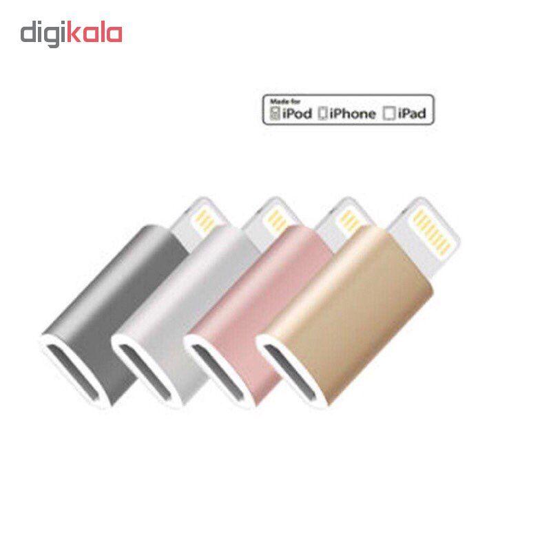 مبدل micro USB به لایتنینگ مدل SH8 main 1 9