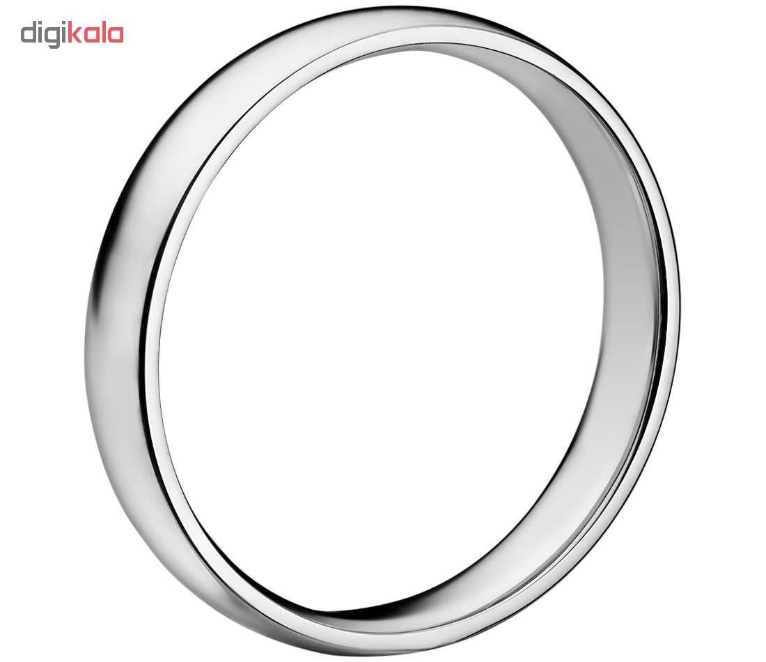 انگشتر نقره آی جواهر طرح حلقه ساده کد 11390SR