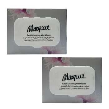 دستمال مرطوب پاک کننده سالمندان ماکسی کول مدل Adult Cleaner دو بسته 40 عددی