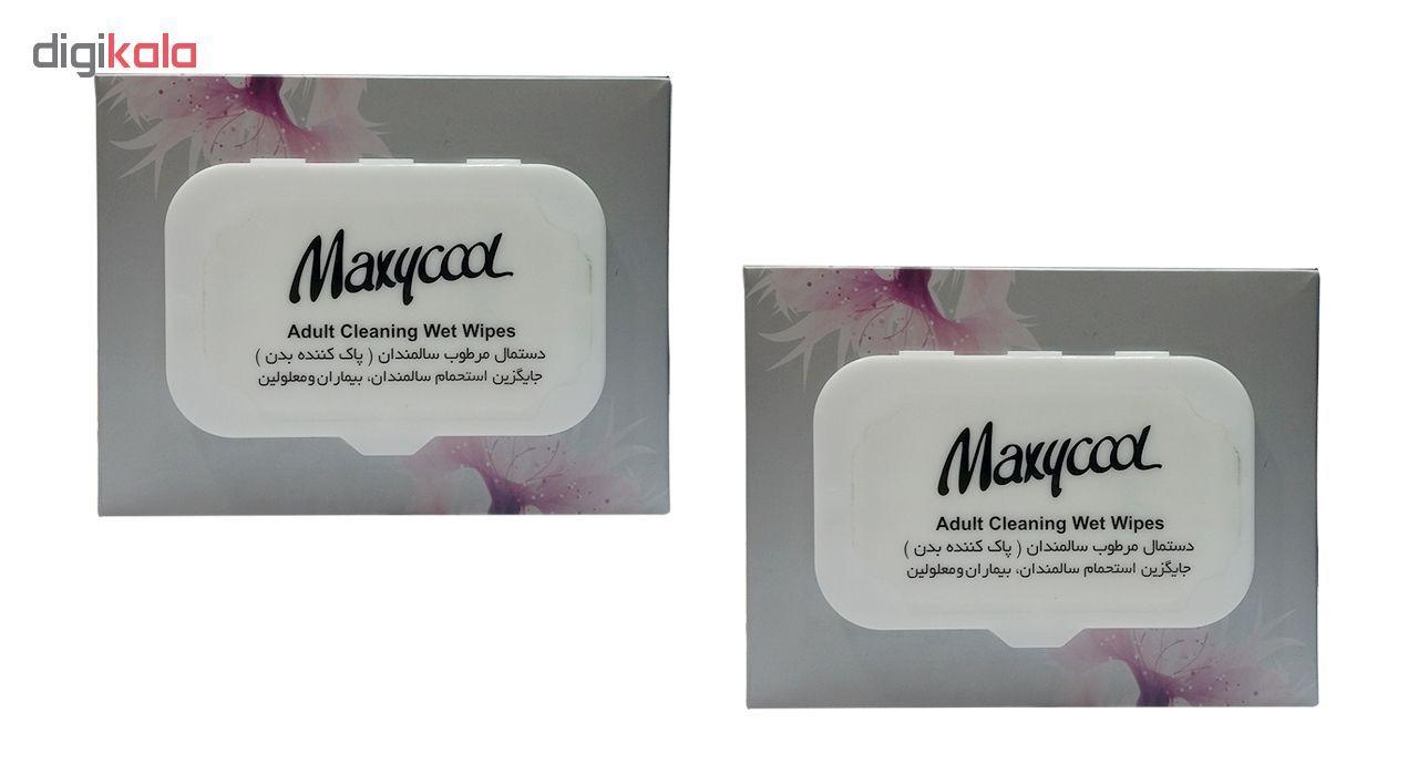 دستمال مرطوب پاک کننده سالمندان ماکسی کول مدل Adult Cleaner دو بسته 40 عددی main 1 1